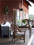 Scandinavia, Sweden, Ekero, View of porch
