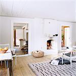 Scandinavian interior, Sweden.