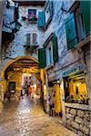 Archway in Alley in Rovinj, Istria, Croatia