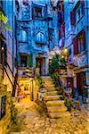 Steps tp Building at Dusk in Rovinj, Istria, Croatia