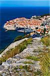 Overview of Dubrovnik, Dalmatia, Croatia