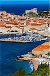 Overview of Harbour in Dubrovnik, Dalmatia, Croatia