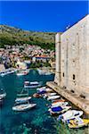 Boats in Harbour in Dubrovnik, Dalmatia, Croatia