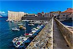 Boats in Harbour at Dubrovnik, Dalmatia, Croatia