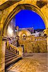 Pile Gate at Dusk in Dubrovnik, Dalmatia, Croatia