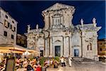 Assumption Cathedral at Night in Dubrovnik, Dalmatia, Croatia