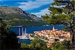 Overview of Korcula, Dalmatia, Croatia