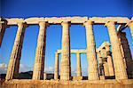 Greece, Cape Sounion, Temple of Poseidon