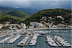 Boats in Harbour at Port de Soller, Mallorca, Spain