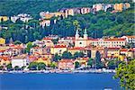Town of Volosko waterfront view, Kvarner bay of Croatia