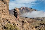 Roque Cinchado in the Teide National Park (Tenerife - Spain)