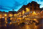 Piazza di Spagna in Rome at sunrise, Italy