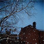 Sweden, Snowfall in city
