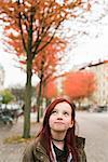 Sweden, Vastergotland, Gothenburg, Portrait of girl (10-11) with red hair