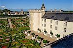 Castle and Gardens of Villandry (Chateau de Villandry), UNESCO World Heritage Site, Indre et Loire, Loire Valley, Centre-Val de Loire, France, Europe