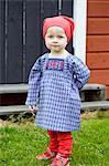 Baby girl standing