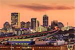 Boston, Massachusetts, USA Skyline at dusk.