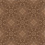 Brown Ornamental Seamless Line Pattern. Endless Texture. Oriental Geometric Ornament