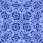 Blue Ornamental Seamless Line Pattern. Endless Texture. Oriental Geometric Ornament