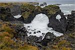 Gatklettur basalt rock arch on the Snaefellsness Peninsula, Iceland, Polar Regions