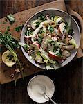 Waldorf salad in bowl