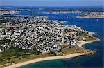 France, Brittany, Morbihan. Larmor Plage. Aerial view.