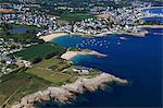 France, Brittany, Morbihan. Le Perello. Aerial view.