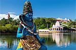 Shiva statue in Ganga Talao Lake, Grand Bassin, Mauritius