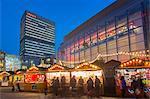Christmas Market on Exchange Square, Manchester, England, United Kingdom, Europe
