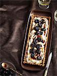 Plate of fruit and cream tart