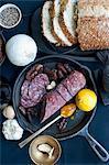Salami lemon bread and garlic