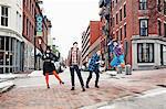 Women posing on street, LGBT community