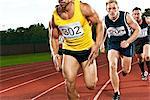 Athletes running on sportstrack