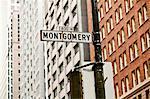 Montgomery Street sign, San Francisco, California, USA