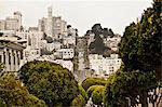 Buildings in residential area, San Francisco, California, USA