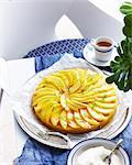 Spiced mango tart