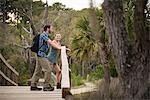 Hikers enjoying nature, Skidaway Island State Park , Savannah, Georgia, USA