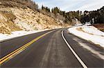 Tarmac road, Salt Lake City, Utah, US