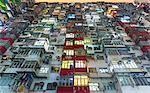 Residential housing, low angle view, Hong Kong, China