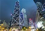 Hong Kong financial district with Bank of China building, Hong Kong, China