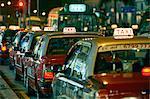 Taxis parked in row, Tsim Sha Tsui, Hong Kong