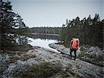 Hiker at water