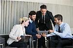 Business team members collaborating