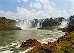 View of the Iguazu Falls, UNESCO World Heritage Site, Puerto Iguazu, Misiones, Argentina, South America