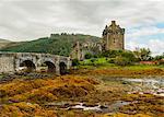 View of Eilean Donan Castle, Dornie, Highlands, Scotland, United Kingdom, Europe