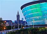 Twilight view of the Hydro, Glasgow, Scotland, United Kingdom, Europe
