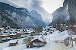 Church at Lauterbrunnen, Jungfrau region, Bernese Oberland, Swiss Alps, Switzerland, Europe
