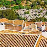 Aerial View on the Spanish City of Grazalema