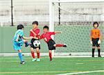 Japanese kids playing soccer
