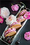 Cherry ice cream sandwich with waffles